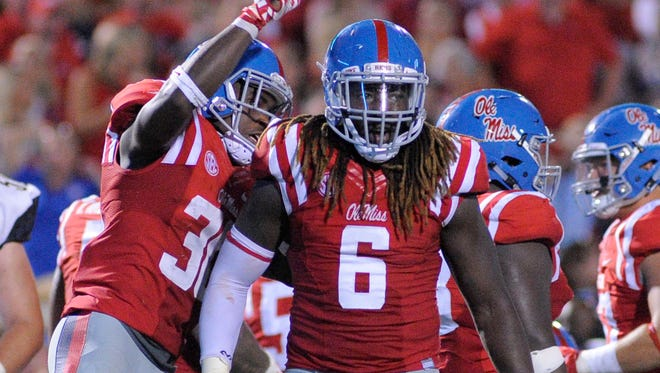 Ole Miss defensive lineman Fadol Brown and three other defensive players could be out Saturday against Mississippi State.