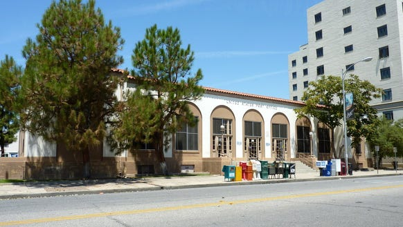 The newly designated Merle Haggard Post Office Building in Bakersfield, Calif.