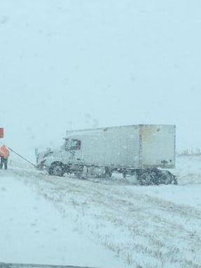 A semi went off the road on Interstate 29 near the Vermillion exit.