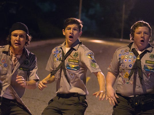 boy scouts perturbed by zombie apocalypse