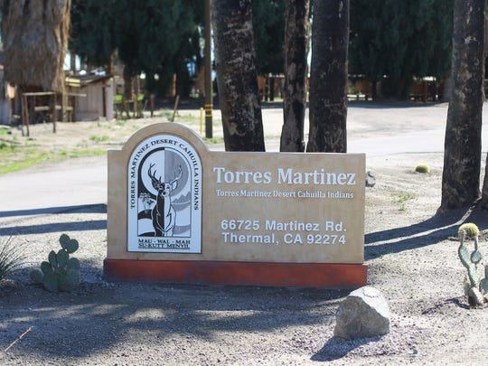 The entrance to the Torres Martinez Desert Cahuilla
