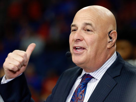Feb 4, 2017; Gainesville, FL, USA; College basketball analyst Seth Greenberg before the game between the Florida Gators and Kentucky Wildcats at Exactech Arena at the Stephen C. O'Connell Center.