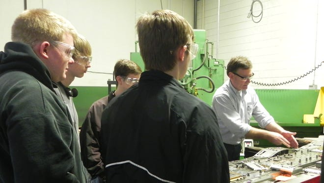 Pewaukee High School students toured manufacturing plants as part of Manufacturing Day on Oct. 4, 2013