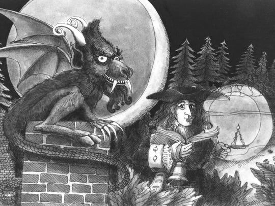 An Asbury Park Press illustration of the Jersey Devil