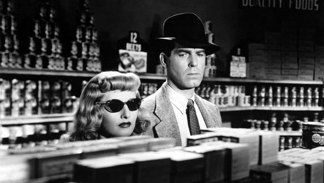 """Barbara Stanwyck and Fred MacMurray in """"Double Indemnity,"""" which screens Saturday at Noir City Detroit."""