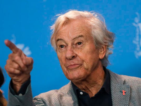 Paul Verhoeven, president of the Jury of the 67th International Berlin Film Festival, gestures as he poses for media during a photo call at the 2017 Berlinale Film Festival in Berlin, Germany, Thursday, Feb. 9, 2017.