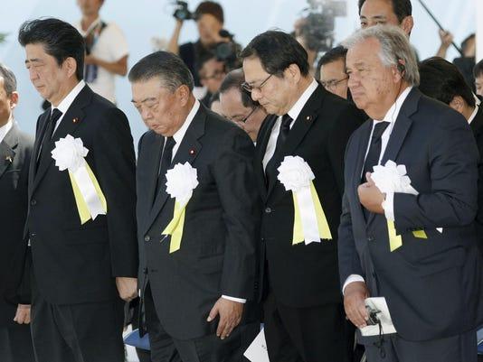 Antonio Guterres,Shinzo Abe