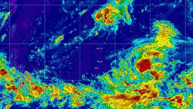 Tropical Storm Soudelor was expected to intensify become a typhoon sometime today.