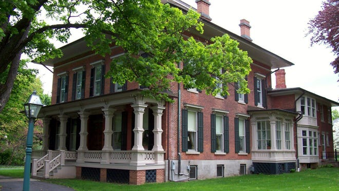The Morgan-Manning House is a historic landmark located in Brockport. Dayton S. Morgan bought the house in 1867, 13 years after it was built.