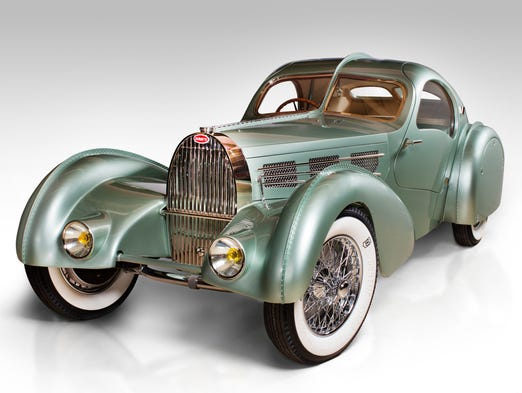 Bugatti Type 57S Competition Coupe Aerolithe recreation, 1935.