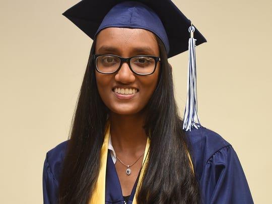 Harvest Christian Academy Valedictorian Harshitha Gogineni,