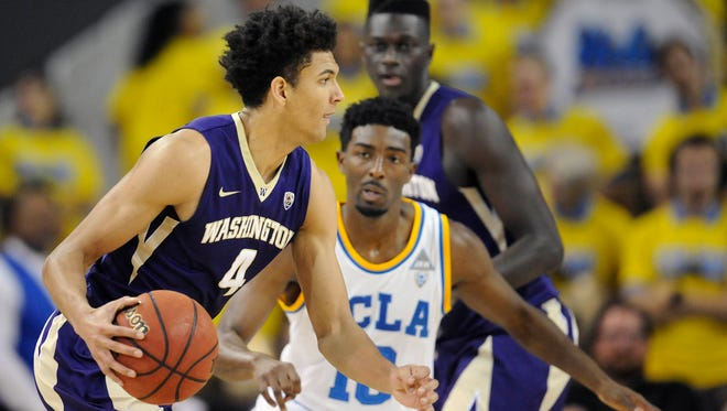 UW sophomore forward Matisse Thybulle (4) has increased his scoring average to 10.0 points per game.