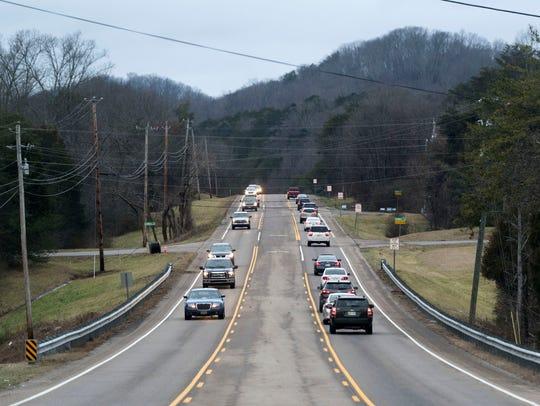 W Gov. John Sevier Highway near Winkle Lane on Wednesday,