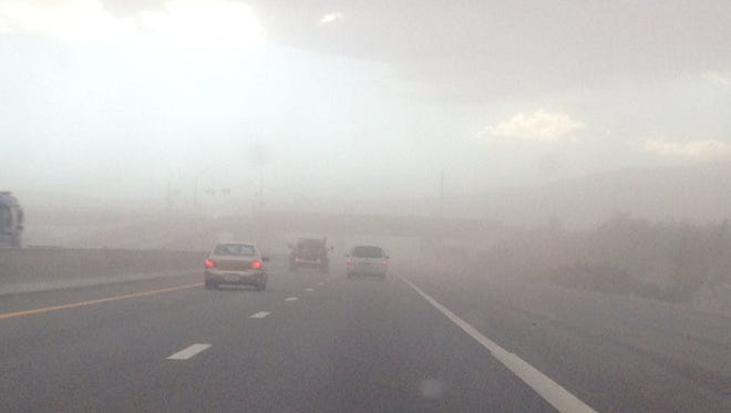 Image of dust storm in the Sparks area.