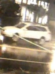 Surveillance camera image of 2013-2014 Subaru Outback suspected of hitting boy in Madison on Nov. 19, 2015