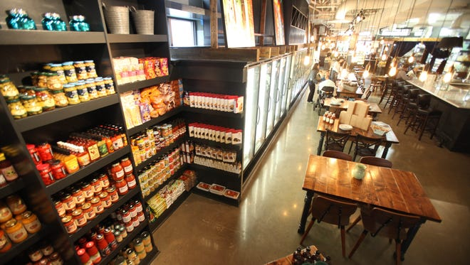 The interior of a new food and dining shop, the Playhouse Market on South Broadway in Nyack, March 12, 2014.