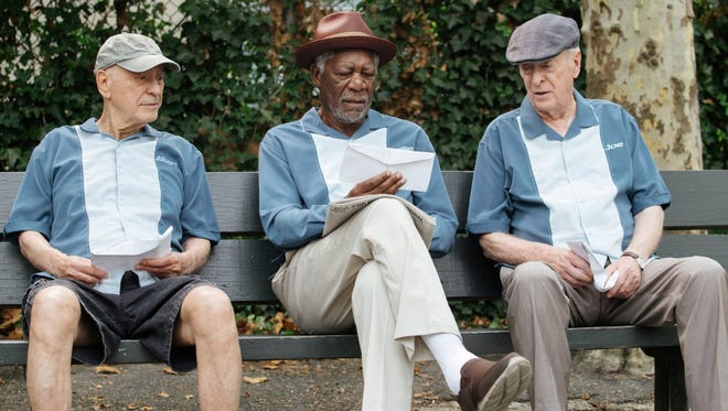 """Alan Arkin (from left), Morgan Freeman and Michael Caine get some bad news about their pensions and decide to do something about it in """"Going in Style."""""""