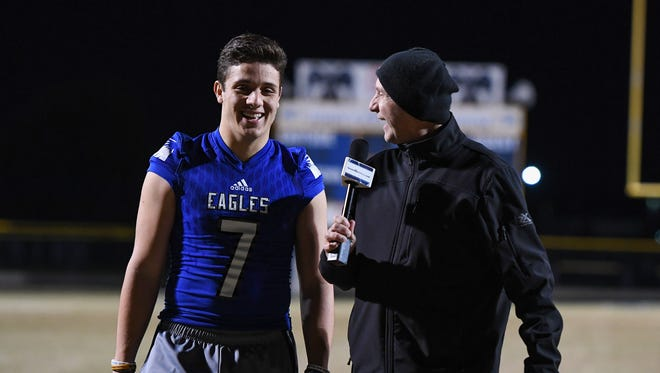 "Eastside senior quarterback Jordan Morgan is featured in this week's edition of ""100 Yards with Bob Castello."""