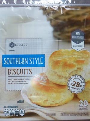 Frozen biscuit dough