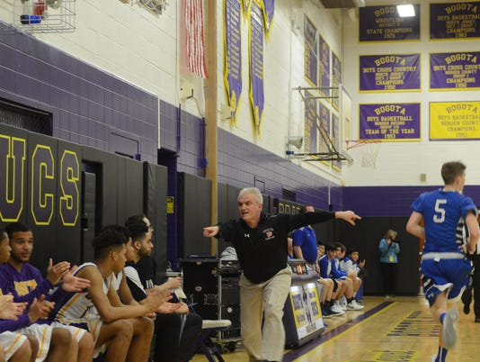 Jay Mahoney, Bogota boys' basketball coach