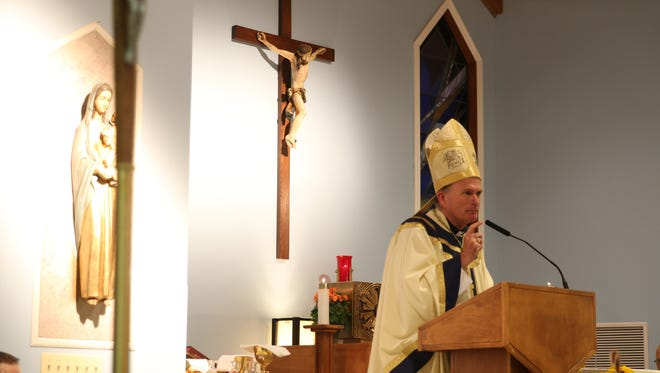 Bishop David M. O'Connell celebrates the World Day of Prayer for the Care of Creation at Our Lady Star of the Sea Chapel in Manasquan.