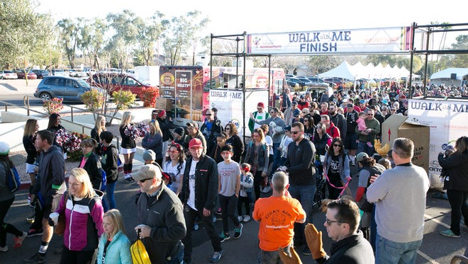 The 1-mile walk at Walk With Me 2018 weaves around the park, along the street and through downtown Scottsdale.