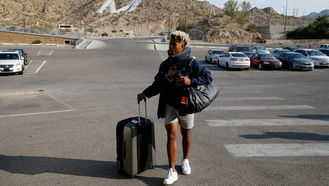 Kavika Johnson, wide receiver for the UTEP football arrives packed and ready to head out to his fourth with the rest of his team mates and attend his final camp as a member of the UTEP football team. The Miners headed north Friday morning and will spend 10 days in Ruidoso during this years camp.