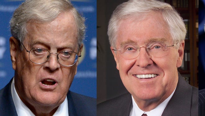 David, left, and Charles Koch.