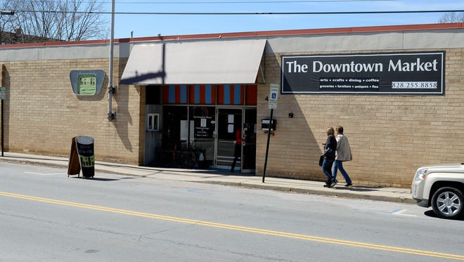 The Downtown Market building on South French Broad Avenue earlier this year.