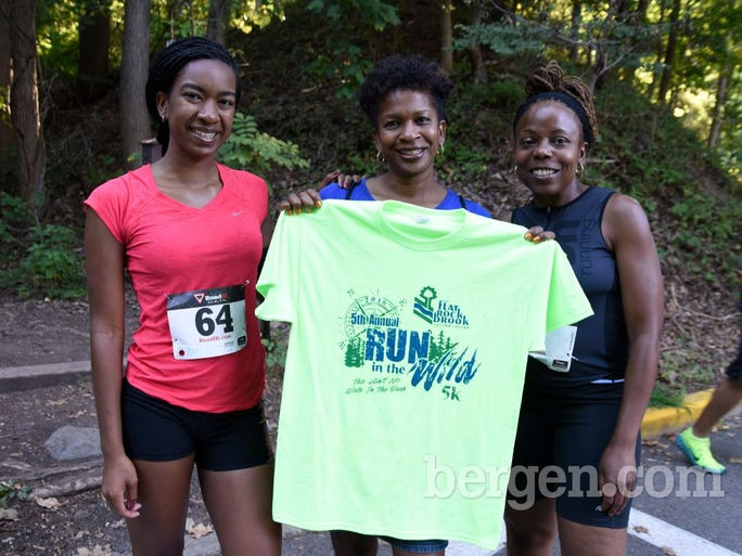 Getting ready for their personal bests: Ktialiyah & Yvette Leggett & Fatinah Ali of Teaneck