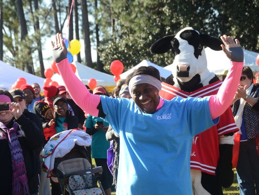 ANI 2015 Heart Walk Heather Mayweather won the 2015 Lifestyle Change award given by the American Heart Association at the 2015 American Heart Associatiom Heart Walk held Saturday, March 7, 2015. Mayweather, who works at Cleco, felt her health was bad so sh