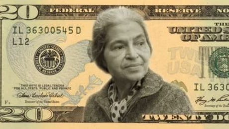 Illustration shows what a $20 bill may look like with Rosa Parks' picture.