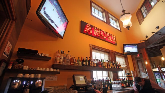 The bar at Amore Pizzeria & Italian Kitchen in Armonk on Feb. 20, 2014.