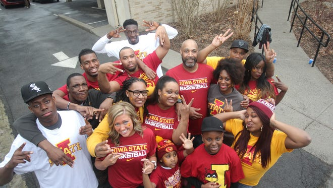 Dustin Hogue's family proudly show off their Iowa State colors in Yonkers as they prepare to head to Madison Square Garden to watch Dustin and Iowa State play UConn in the NCAA Tournament on Friday.
