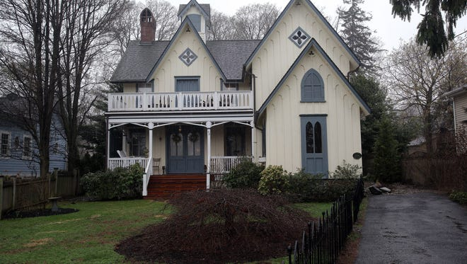 This is a view of a converted carriage house built around 1868 owned by Jennifer Rothschild in Nyack.