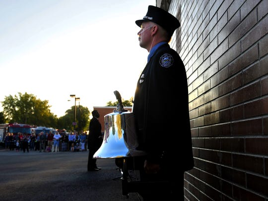 Great Falls firefighter Jason Baker helped organize the 9/11 memorial ceremony in Great Falls in 2017.