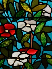 Stained glass inside the William G. Scott House Thursday, May 21, 2015, in Richmond.