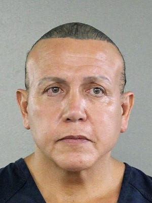 This Aug. 30, 2015, file photo released by the Broward County Sheriff's office shows Cesar Sayoc in Miami. Sayoc, who is charged with sending pipe bombs to prominent critics of President Donald Trump, is expected to plead guilty at a hearing in New York on Thursday, March 21, 2019.