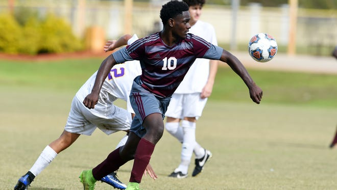 Fort Pierce Westwood boys soccer player Gabriel Guerrier leads the team with 33 goals this season, including all three in the Panthers' Region 3-3A quarterfinal win against Wauchula-Hardee.
