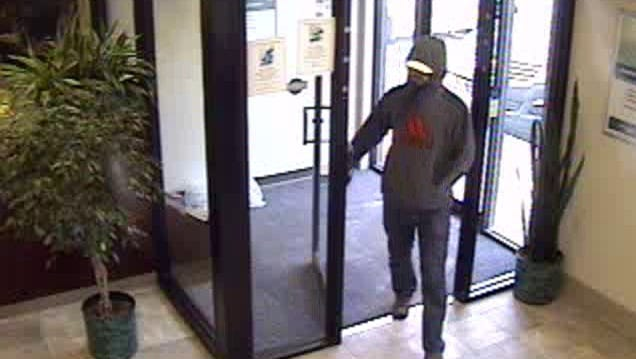 Winooski Police say this suspect robbed the Merchant's Bank at 348 Main Street in Winooski on Friday afternoon.