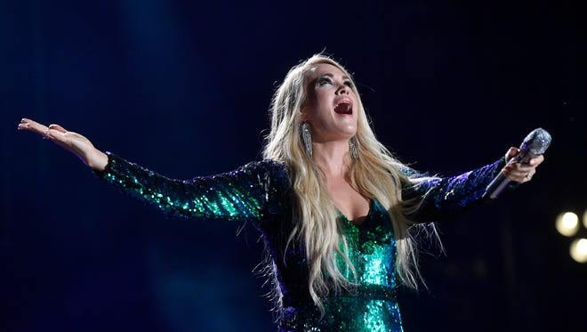 Carrie Underwood performs at the 2018 CMA Music Festival on Friday June 8, 2018, at Nissan Stadium in Nashville.