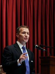 Missouri Gov. Eric Greitens delivers the annual State