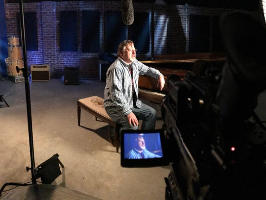 """Southside Johnny being filmed for the new film, """"Just"""