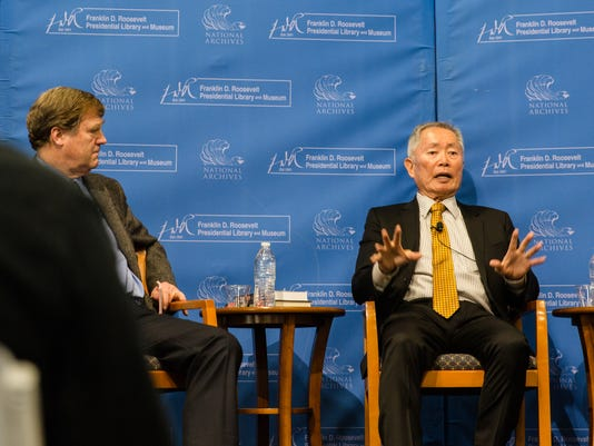 George Takei at FDR Library