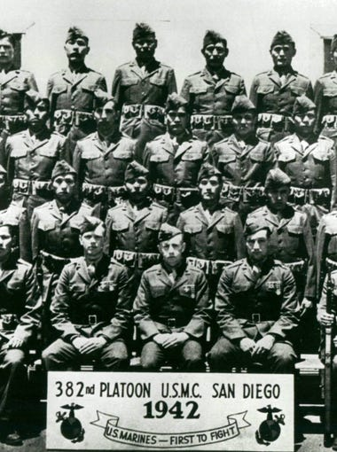 The 382nd Marine Platoon was made up of the original 29 Navajo Code Talkers.
