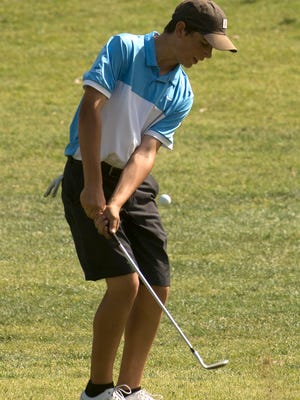 Camarillo High sophomore Joey Zambri tied for second with Oaks Christian golfer Tristan Gretzky at last week's VCJGA tournament at the Alisal's River Course in Solvang