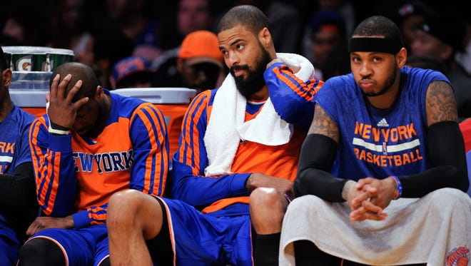 Carmelo Anthony, Tyson Chandler and Raymond Felton had a rough year with the Knicks. Could they reunite in Dallas?
