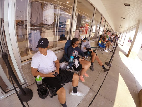 The first people in line for the H&M grand opening