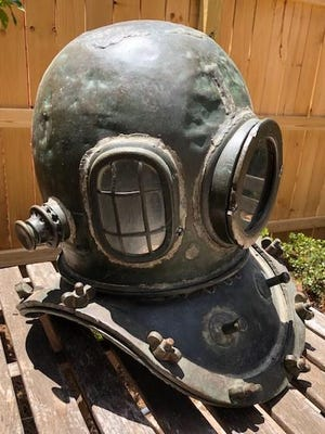 This diving helmet may have been made in Korea or possibly Japan in the last quarter of the 19th century.