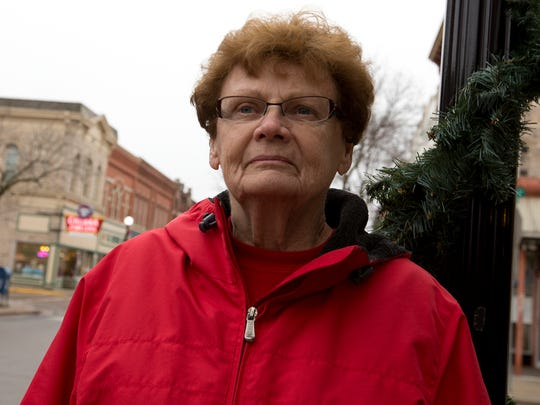 Marge Molski of Stevens Point in downtown Stevens Point, Tuesday, Dec. 22, 2015.
